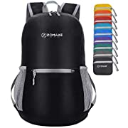 ZOMAKE Ultra Lightweight Packable Backpack, Water Resistant Small Hiking Daypack