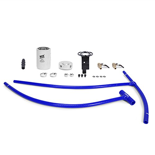 Mishimoto MMCFK-F2D-03BL 03-07 Ford 6.0L Powerstroke Engine Coolant Filter Kit, Blue