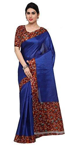 Rajnandini Women's Tussar Silk Kalamkari Printed Saree(JOPLNB6004C_Maroon_Free Size)