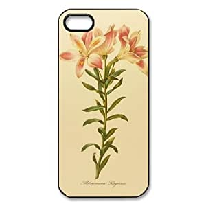 Lily Colorful Flower Decorative Custom Printed Design Durable Case Cover for Iphone 5 5S