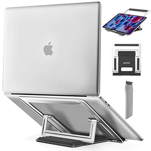 Adjustable Laptop Stand, Ergonomic Portable Computer Stand Holder, Multi-Angle Notebook Stand, Laptop Riser Compatible with MacBook Air Pro, Dell, HP, Lenovo More 10-15.6