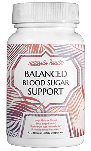 Naturelle Health's Blood Sugar Control Helps Solve The Root Cause of High Blood Sugar, Helps You Minimize Fat Storage, Supports Cardiovascular Health, and Increases Energy, 90 -
