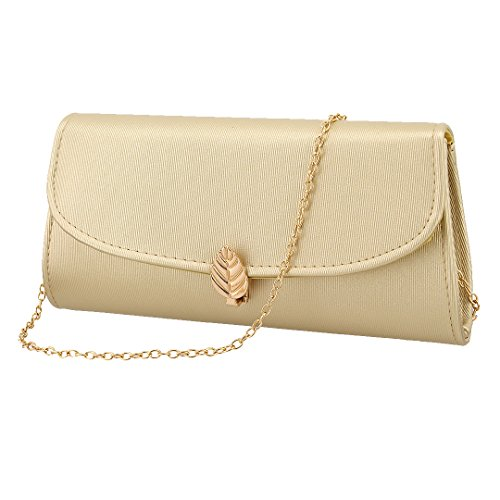 Wedding Party Bridal for Bag Crossbody Liliam Prom Gold Shoulder Women Evening Handbag Pleated Purse Clutch XX7wRP