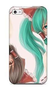 XiFu*MeiLzzAKKx3822mnpld Video Games Touhou Vocaloid Hatsune Miku Miko Hakurei Reimu Crossovers Soft Shading Japanese Detached Sleeves Awesome High Quality Iphone 5c Case SkinXiFu*Mei