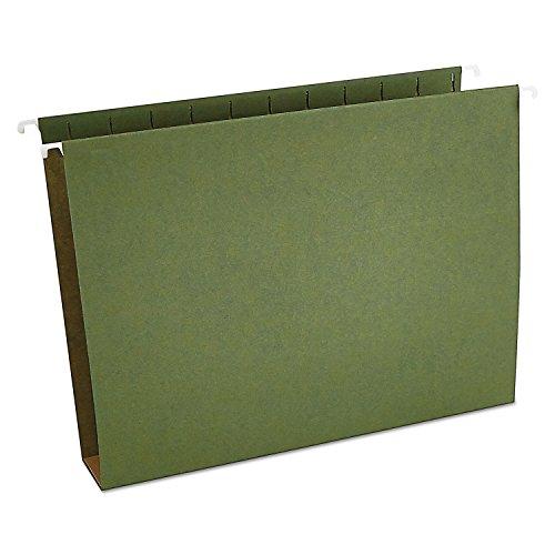Universal 14142 Two Inch Box Bottom Pressboard Hanging Folder, Letter, Standard Green, 25/Box