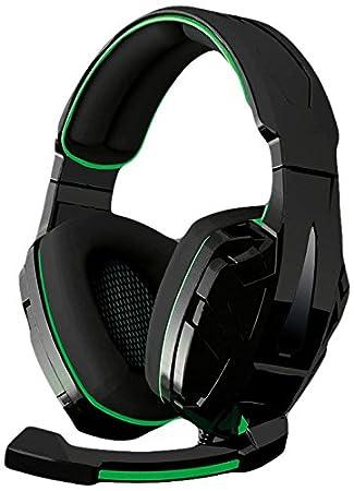 BG Xonar - Auriculares para gaming, color negro y verde