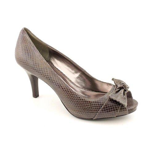 Alfani Daphna Womens Peep Toe Pump Heel Shoe Bronze Leather 6.5 M