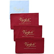 3 Pack 4Ply Premium Jewelry Polishing Cloth for Gold Silver Jewelry Coins Gemstones Watches Flatware Lint-Free...
