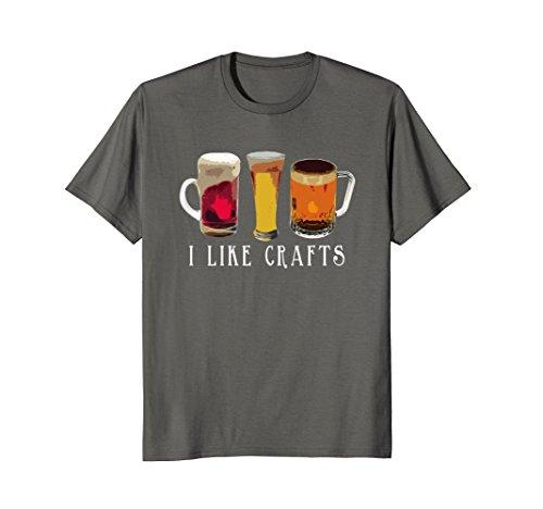 Mens I Like Crafts Beer T-Shirt Large - Shirt Craft