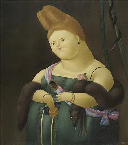 canvas-prints-of-oil-painting-the-prima-donna-by-fernando-botero1967-18-x-20-inch-46-x-52-cm-high-qu