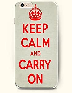 iPhone Case, SevenArc iPhone 6 (4.7) Hard Case **NEW** Case with the Design of keep calm and carry on - Case for Apple...