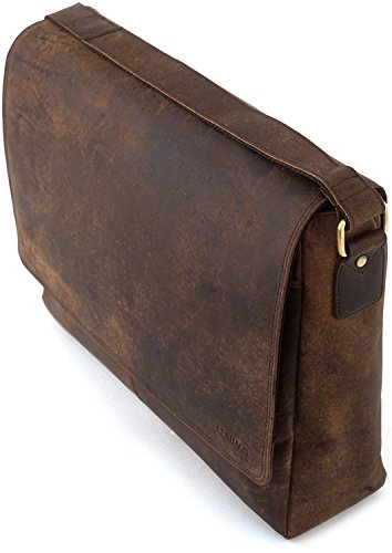 LEABAGS Oxford genuine buffalo leather messenger bag in vintage style - Muskat by LEABAGS (Image #9)