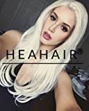 Heahair® Fashion Color Blonde Straight Handited Syntheyic Lace Front Wig for Halloween