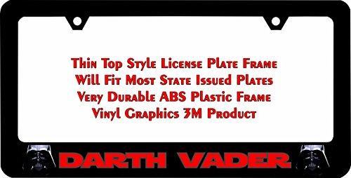 Amazon.com: Star Wars Darth Vader Thin Top License Plate Frame: Automotive