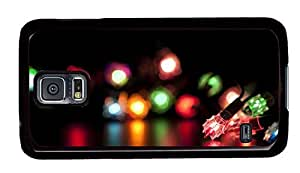 Hipster Samsung Galaxy S5 Case silicone colored decoration light PC Black for Samsung S5