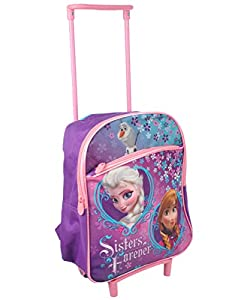 Amazon.com: Disney Frozen Rolling Backpack w/ Wheels Princess Anna ...