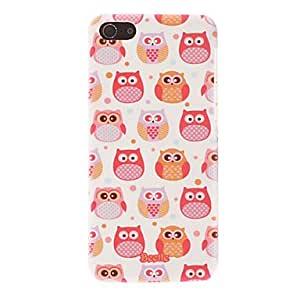 Cartoon Style Cute Owls Pattern Smooth Hard Case for iPhone 5C