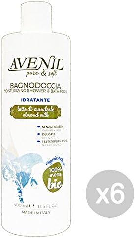 Juego 6 avenil doccia-bagno 400 ml Leche/avena producto baño y ducha: Amazon.es: Belleza