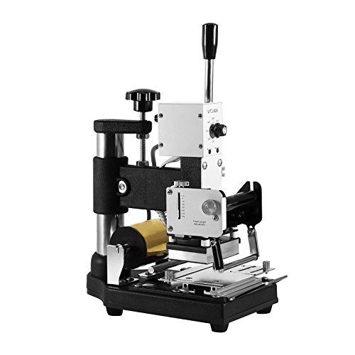 BestEquip Hot Foil Stamping Machine Tipper Embosser Hot Foil 5.5 x 4 Inch Work Table Foil Stamping Bronzing Machine for Paper PVC Card (Hot foil stamping machine)
