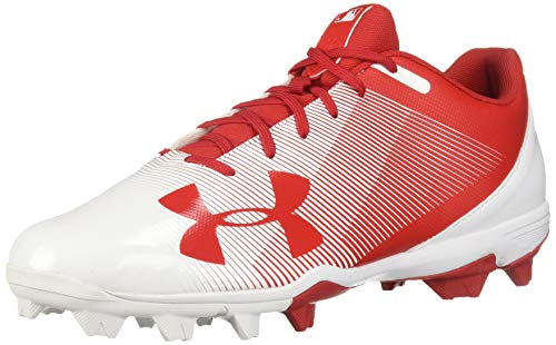 Under Armour Men's Leadoff Low RM Baseball Shoe, Red (611)/White, 7