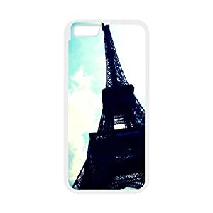 Yearinspace eiffel tower 3 iPhone 6 Plus Cases, Funny Iphone 6 Plus Case For Men {White}