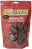 THE REAL MEAT COMPANY 828017 Dog Jerky Venison Treat, 4-Ounce