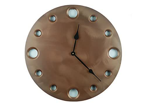 Penny, Large Circular Metal Powder Coated Wall Clock, Sleek, Industrial, Modern, and Unique, Silent (non-ticking)