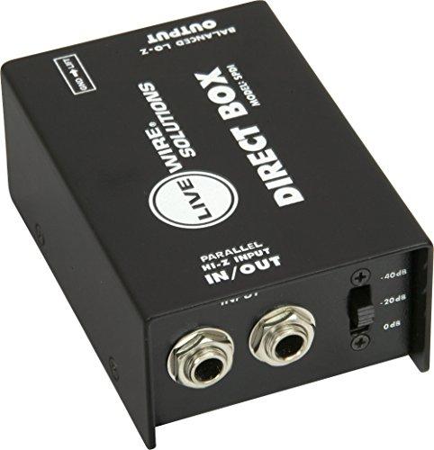 Livewire SPDI Passive Direct Box with Attenuation Pad - Plus Direct Box