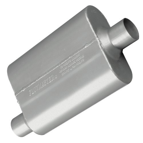 Flowmaster 42441 40 Series Muffler - 2.25 Offset IN / 2.25 Center OUT - Aggressive Sound by Flowmaster ()