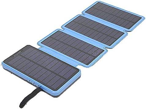 ArgoBa Cargador Solar Cargador Solar portátil para teléfono Celular Puertos USB Banco de energía a Prueba de Agua Cargadores de batería Plegables: Amazon.es: Electrónica