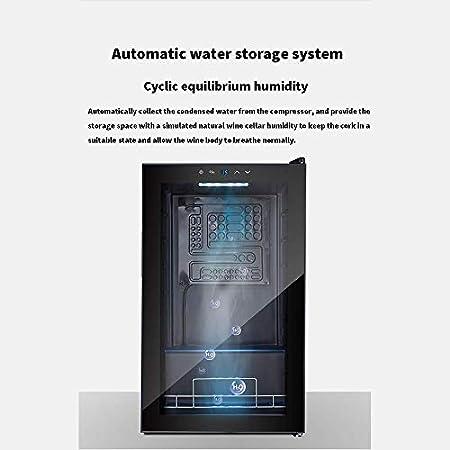 YFGQBCP Termoeléctrica Enfriador de Vino, Constant refrigerador de 34 Botellas de Pantalla táctil LCD de visualización 5-18 ℃ Consumo doméstico de energía Baja Silencio Pequeño refrigerador de Vino