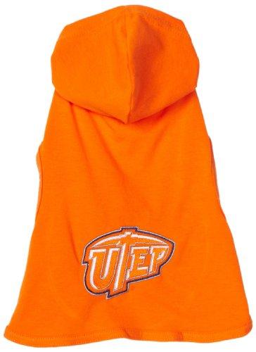 NCAA Texas El Paso Miners Cotton Lycra Hooded Dog Shirt, XX-Large Orange/Blue