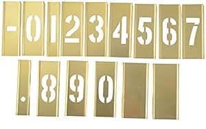 """Hanson Stencil 3"""""""" 15 Peices Number Set [10013]"""