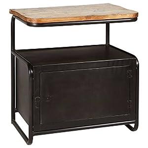 Beautiful Meyer Industrial Loft Iron Reclaimed Wood Locker Side Table