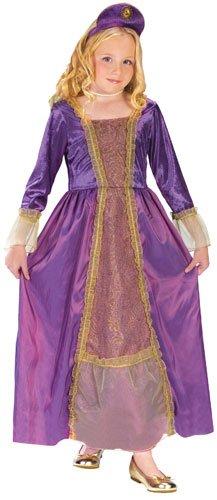 Amethyst Princess Child Renaissance Costume sz Small (Middle Ages Costumes)