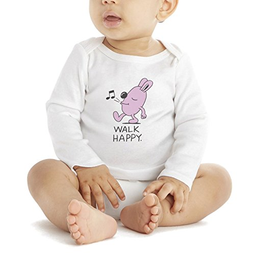 SHUOCDAH Walk Happy Sing Song Music Note Pink Bunny Baby Boys Girls Cool Baby (Happy Halloween Music Notes)