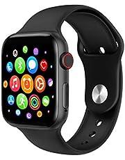 ساعة ذكية K90 شاشة كاملة تعمل باللمس - رسائل ومكالمات - متوافق مع نظامي Android و iOS لون أسود