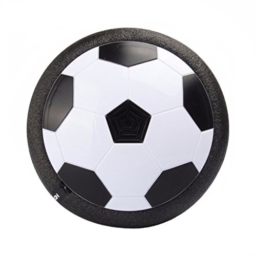 Flashing Soccer Ball (Air Power Soccer Disc, Invin Multi-surface Hovering And Gliding Toy Indoor Outdoor Soft Foam Floating Led Light Up Flashing Football game toys)