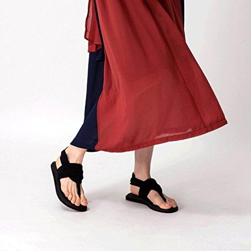 Femme Été De 2 Romaine Sandales Chaussures Plate Plage Yoga naETq6xv