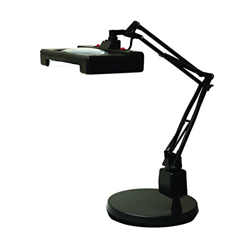 Electrix 7460 30'' Reach Wide View Illuminated Magnifier with Weighted Base by Electrix