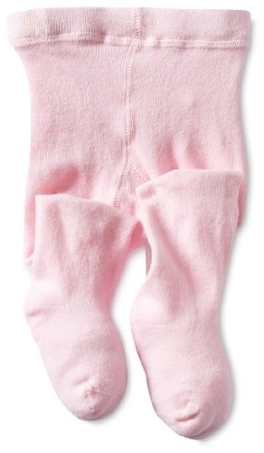 Jefferies Socks Baby Girls' Seamless Organic Cotton Tights, Pink, 18 24 Months Infant Toddler Pink Apparel