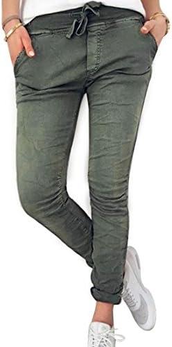 Inlefen Pantalones Largos para Mujeres Damas Pantalones Ajustados c/ómodos en Cintura el/ástica de Moda Pantalones Deportivos de Cintura Alta en Yoga de Moda de Color Puro