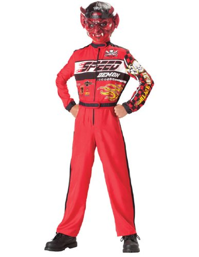 [InCharacter Costumes, LLC Boys 8-20 Speed Demon Jumpsuit, Red, Large] (Red Jumpsuit Costume)