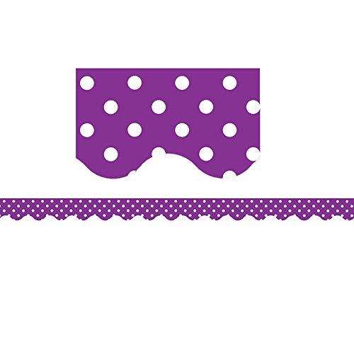 Teacher Created Resources Purple Polka Dots Scalloped Border -