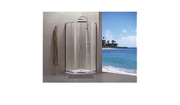 Paredes Concerto cuarto círculo, 80 x 80 cm – Perfil plata brillante cristal transparente Réf ndf80 X: Amazon.es: Hogar