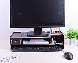 Amazon Com Monitor Stand Monitor Lift Desktop Organizer