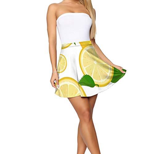Hualovehua Women's High Waist Pleated A Line Skirt Messy Jamaican FlagSkater Skirt Short Skirt White