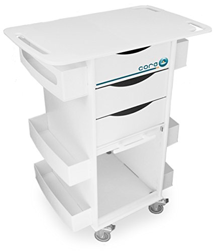(TrippNT 51438 Polyethylene/ABS Core DX Lab Cart with Extended 29