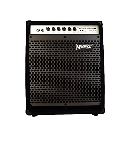 Warwick BC80 80W 1x12 Bass Combo with 2 in. Horn Black (Hybrid Bass Combo Amp)