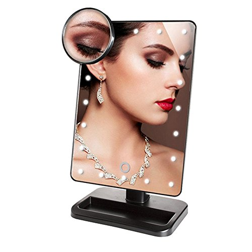 Lighted Vanity Makeup Mirror with Dimmable 20 LED Light a...